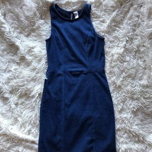 H&M Stretchy Denim-like Mini Dress